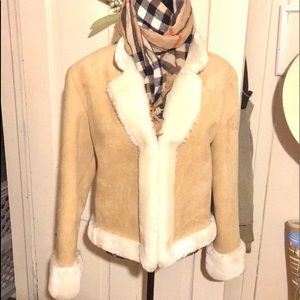 111 state faux shearling jacket  M never worn